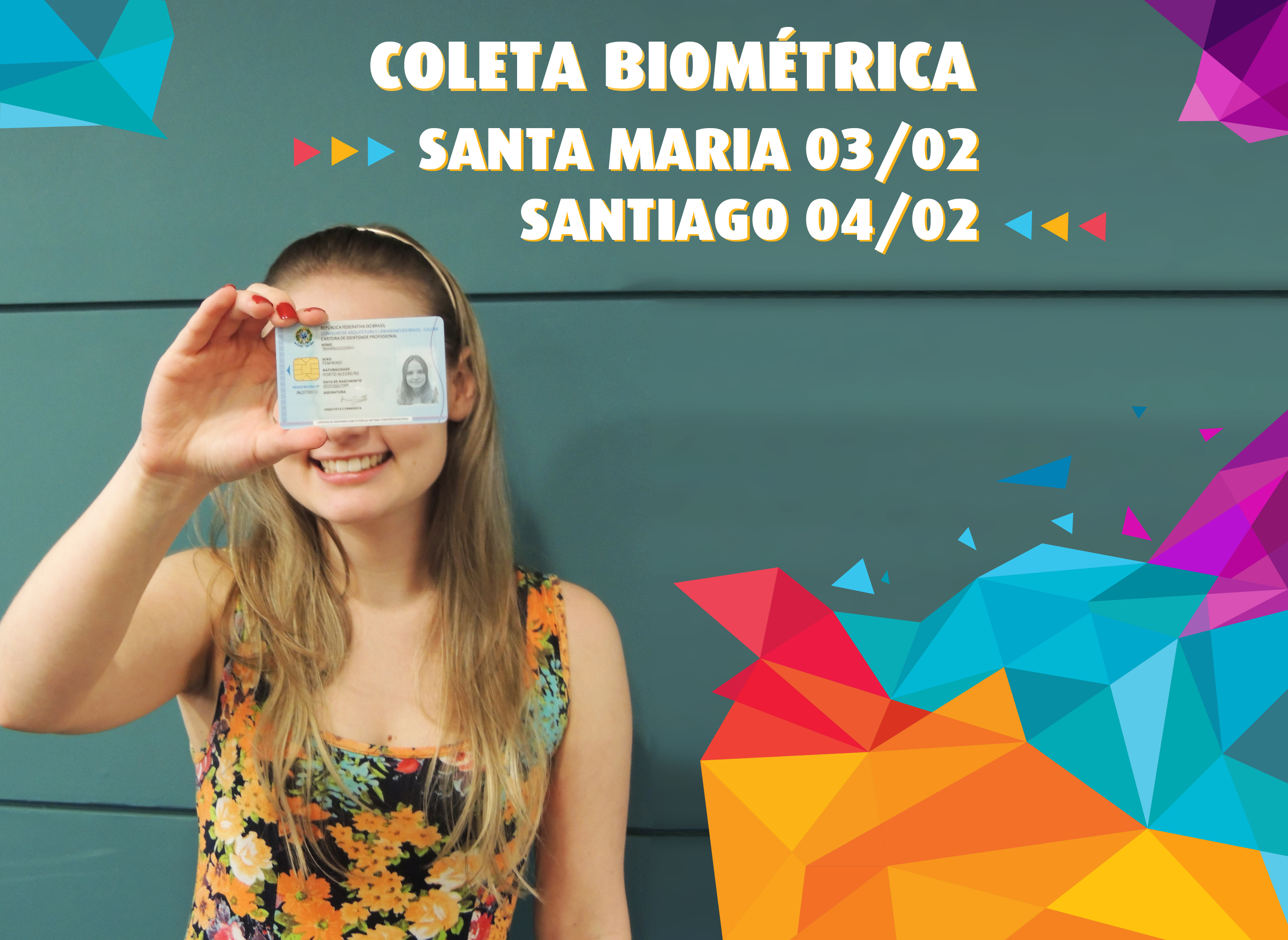 Coleta biometrica Santa Maria e Santiago