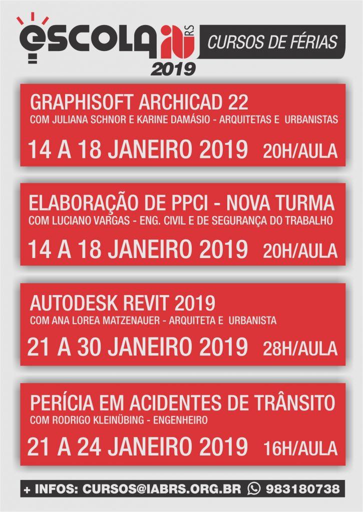 Calendario 2019 Rio Grande Do Sul.Escola Iab Rs Divulga Calendario De Cursos De Ferias Para